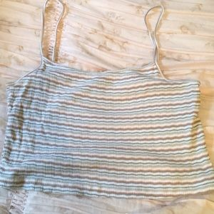 Forever 21 Tops - SUPER CUTE STRIPED CROPPED TOP